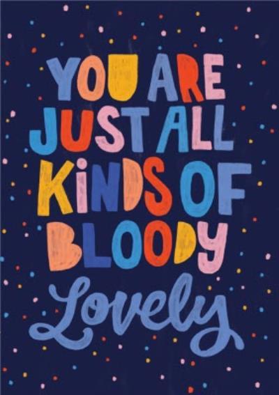 Lovely Colourful Positive Friendship Card