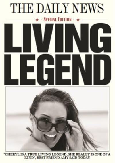 Living Legend - Newspaper Birthday Card