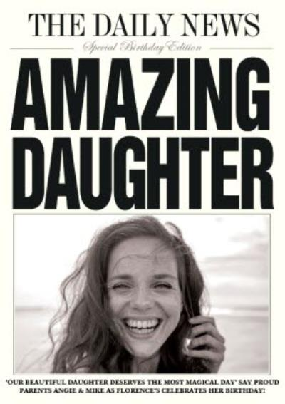 Daily News Amazing Daughter Card