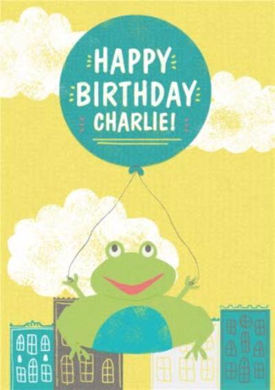 Flying Frog Personalised Birthday Card