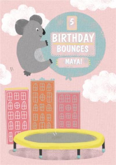 Flying Koala Personalised Birthday Card