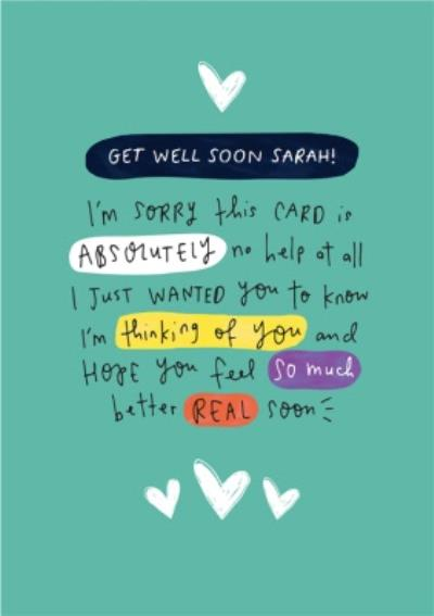 Get Well Real Soon Personalised Card