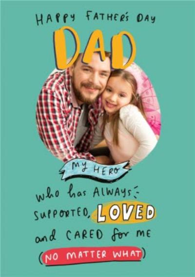 The Happy News To My Hero Father's Day Photo Card