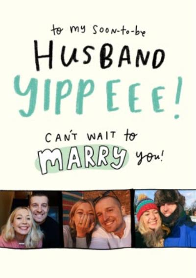 The Happy NewsTo My Soon To Be Husband Photo Upload Wedding Day Card