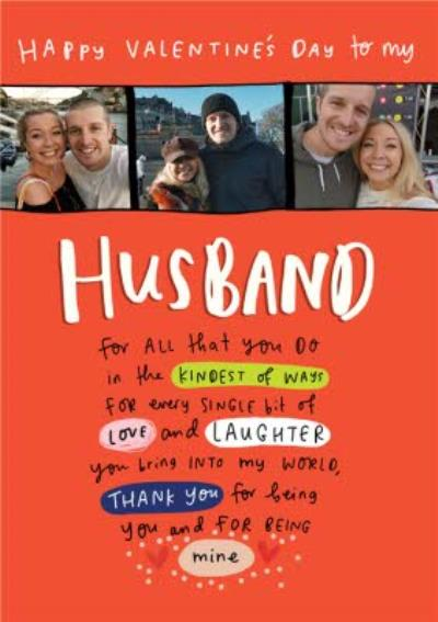 Photo Upload Valentine's Day Card for Husband For All That You Do