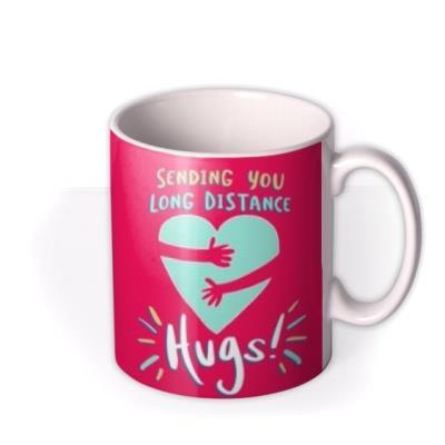 Sending Long Distance Hugs Heart Mug