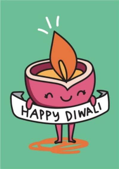 Happy Diwali Cute Candle Card