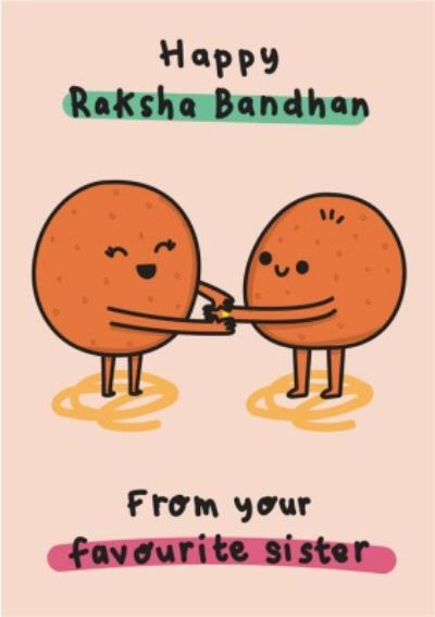 From Your Favourite Sister Raksha Bandhan Card
