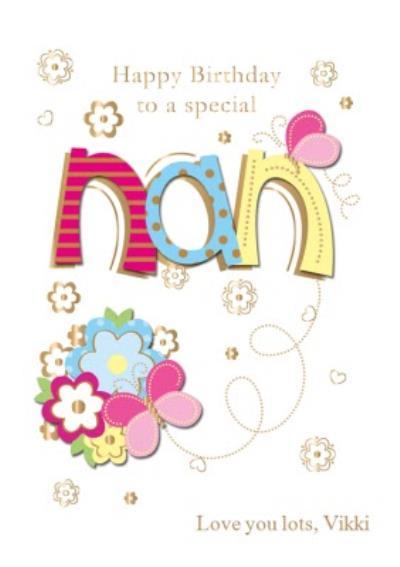 To A Special Nan Birthday Postcard