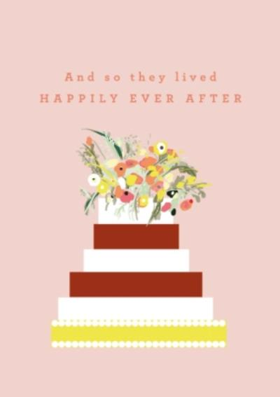 Abstract Cake Design And So They Lived Happily Ever After Card
