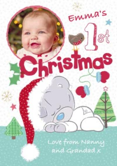 Me To You Tatty Teddy Personalised And Photo First Christmas Card
