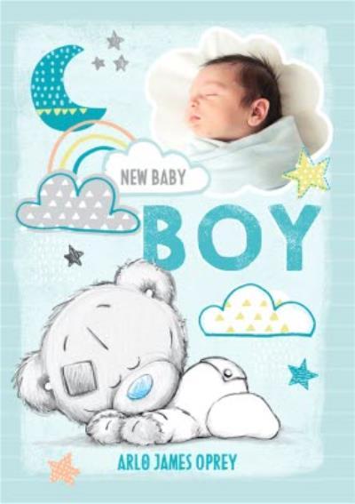 Me To You Tatty Teddy Baby Boy Photo Upload Card