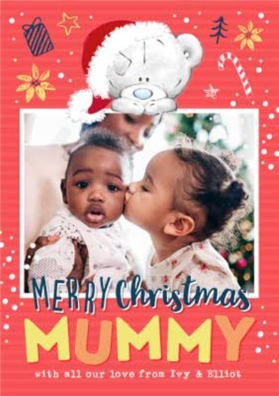 Me To You Tiny Tatty Teddy Merry Christmas Mummy Photo Upload Card