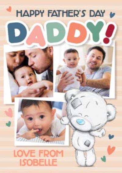 Tiny Tatty Teddy Illustration 3 Photo Upload Father's Day Card