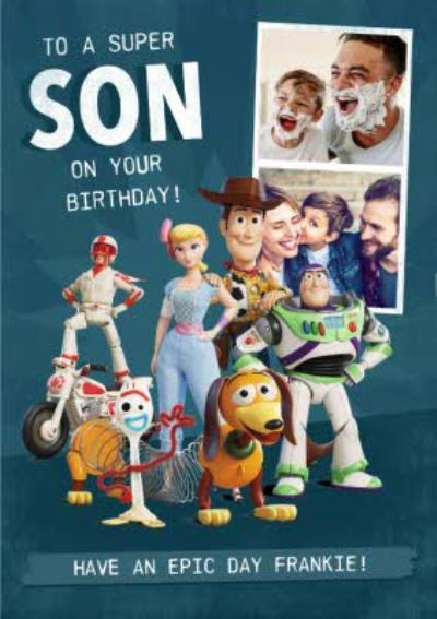 Toy Story 4 - To A Super Son Photo Card