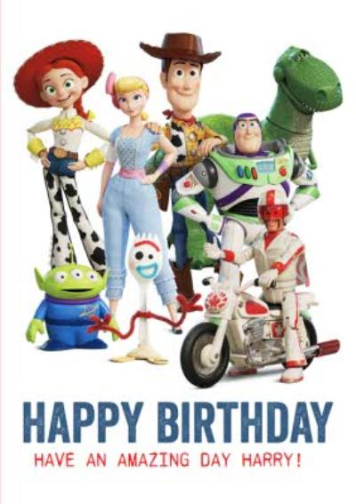 Toy Story 4 characters - Birthday Card