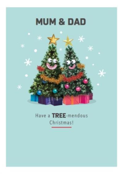 Christmas Trees Have A Treemendous Christmas Card