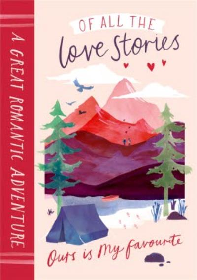A Great Romantic Adventure Book Cute Card