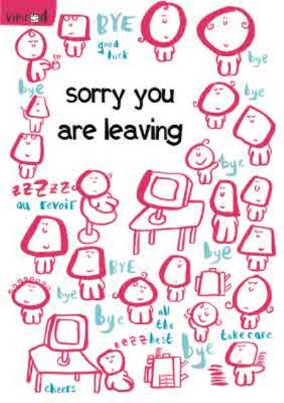 Office Bye Bye Personalised Sorry You're Leaving Card