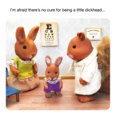 Funny Im Afraid There Is No Cure For Being A Little Dickhead Card