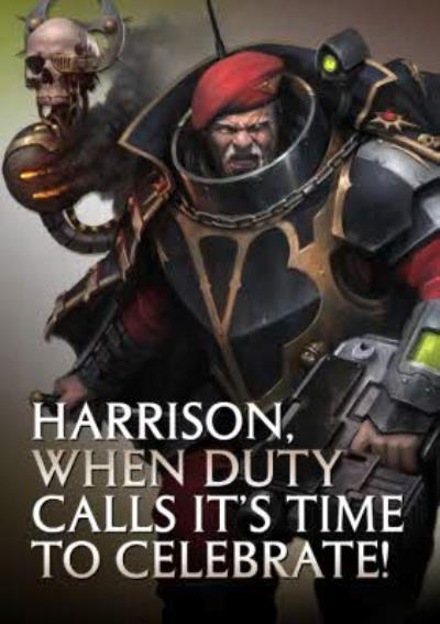 Warhammer When Duty Calls Its Time To Celebrate Card