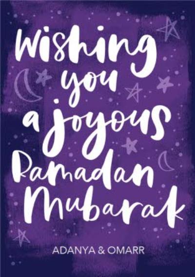 Modern Typographic Wishing You A Joyous Ramadan Mubarak Card