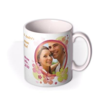 Honeymoon Paradise Photo Upload Mug