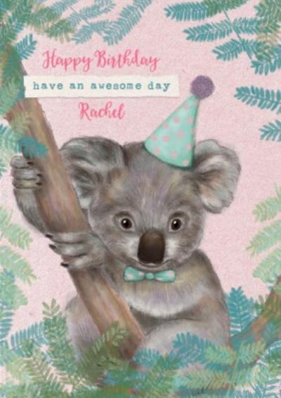 Party Hat Koala Birthday Card