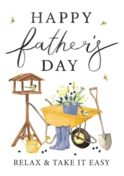 Illustration Happy Fathers Day Relax And Take It Easy Card