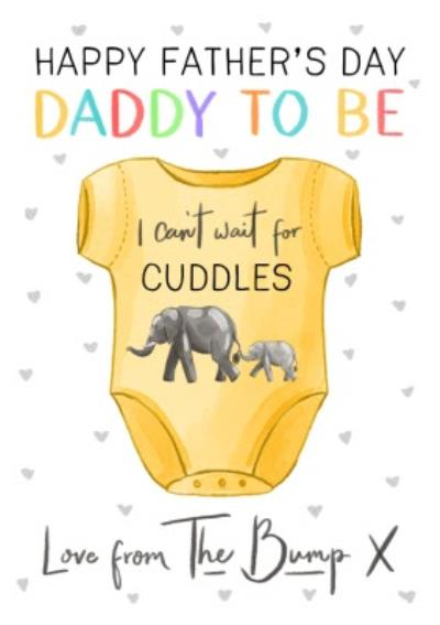 Cute Illustration Happy Fathers Day Daddy To Be Love From The Bump Card