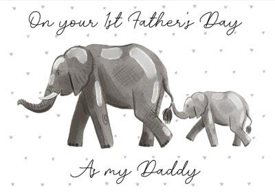 Cute Illustration On Your First Fathers Day As My Daddy Card