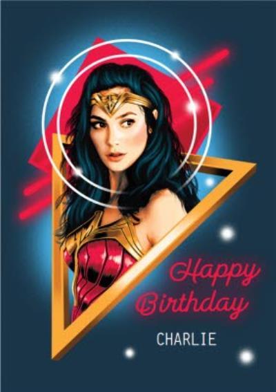 Wonder Woman 1984 Superhero Happy Birthday Card