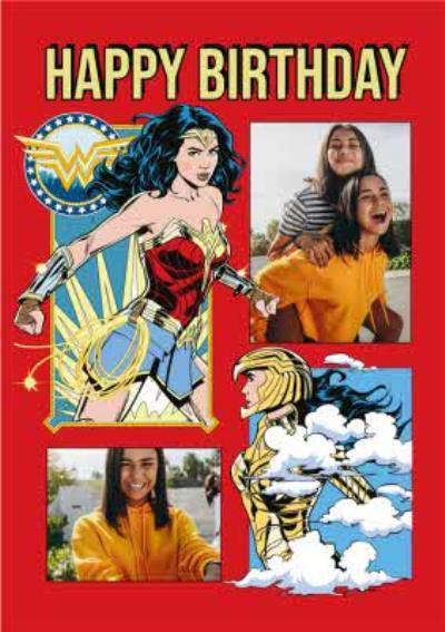 Wonder Woman 1984 Superheroes Birthday Photo Upload Card