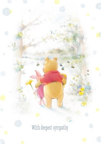 Disney Winnie The Pooh And Piglet Personalised With Deepest Sympathy Card