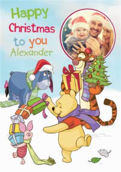 Disney Winnie The Pooh And Friends Photo Upload Christmas Card