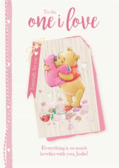 Disney Winnie The Pooh To The One I Love Valentine's Day Card