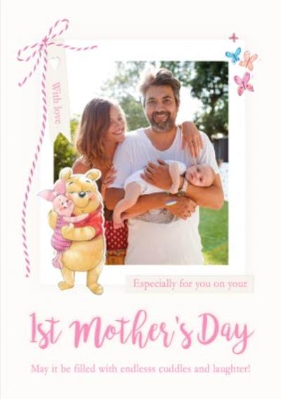 Disney Winnie The Pooh Happy First Mother's Day Photo Card