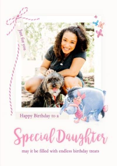 Disney Winnie The Pooh Photo Upload Daughter Birthday Card