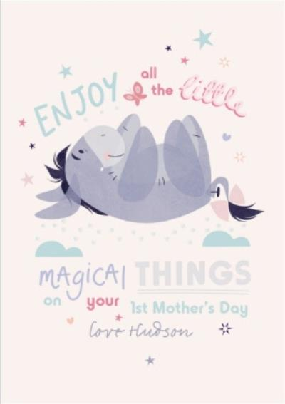Winnie The Pooh Eeyore Enjoy All The Little Magical Things First Mother's Day Card