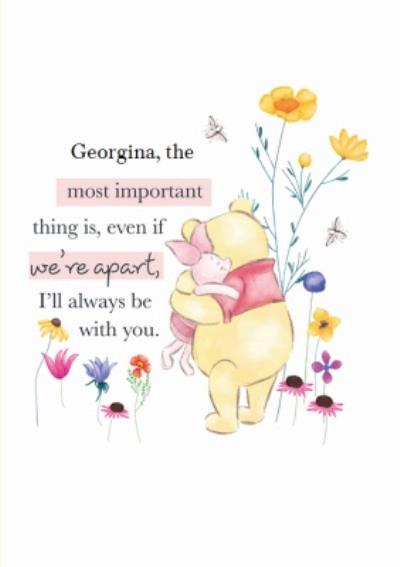Winnie The Pooh Always Be With You Card