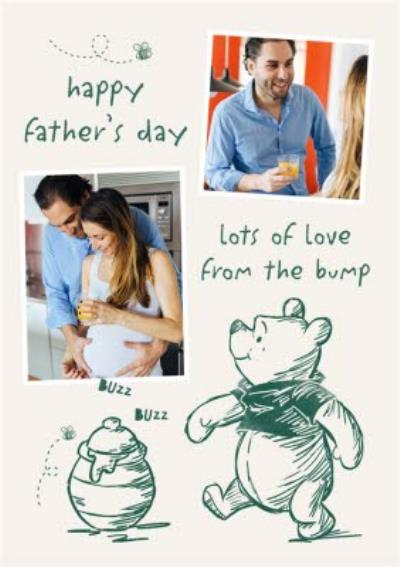 Disney Winnie The Pooh Lots Of Love From The Bump Father's Day Card