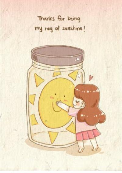 Thank you card - sunshine