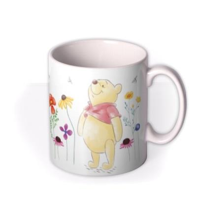 Winnie The Pooh Happiness And Laughter Floral Mug