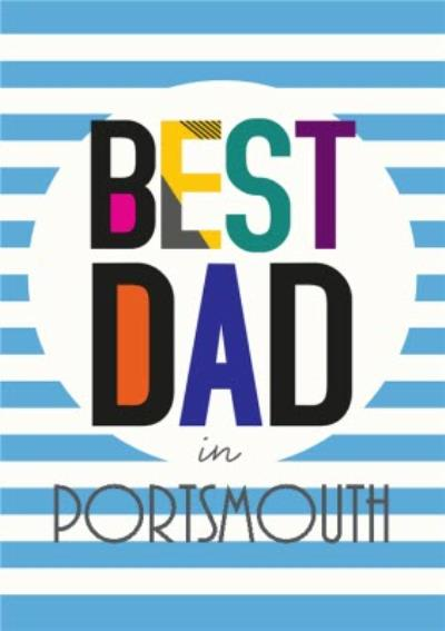 Best Dad In Personalised Place Card