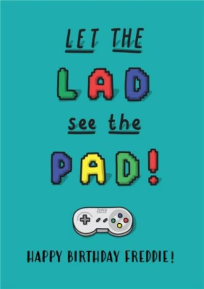 Funny cartoon gaming male friend lad birthday card