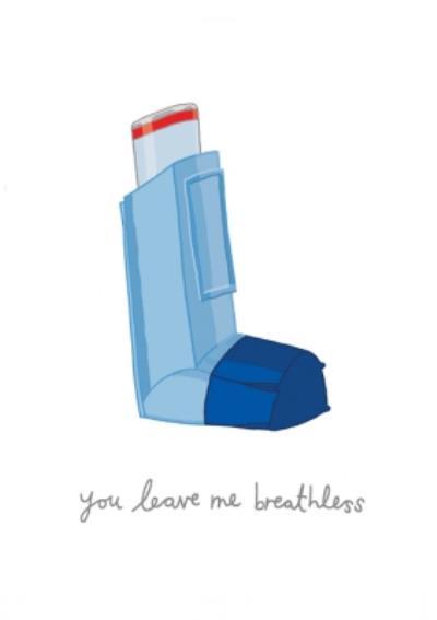 You've Got Pen On Your Face Inhaler Asthma Funny Humour Card