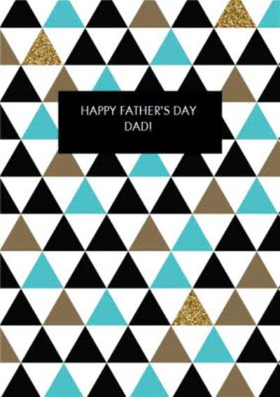 Triangle Pattern Personalised Happy Father's Day Card
