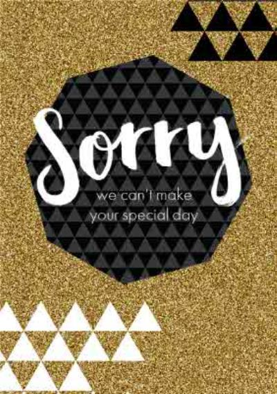 Sparkled Personalised Sorry We can't Make Your Special Day Card
