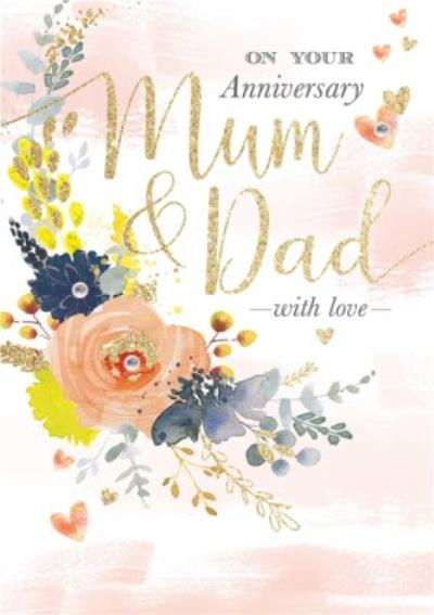 On Your Anniversary Mum And Dad Card