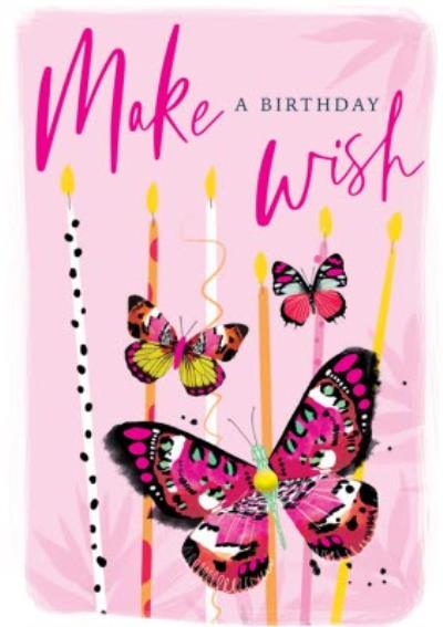 Make A Birthday Wish Butterfly Card